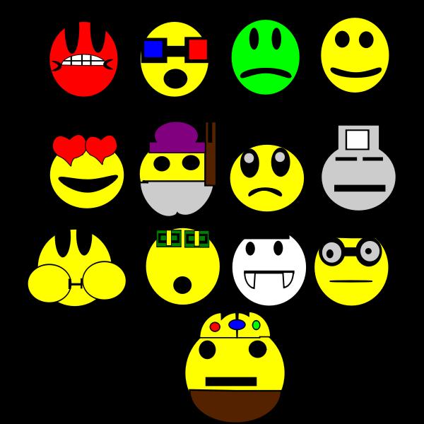 Smileys selection.