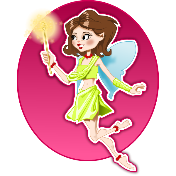 Young smiling fairy girl vector image