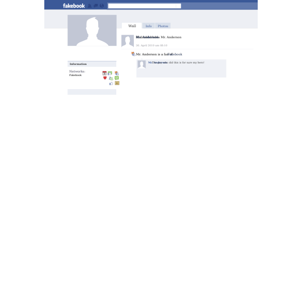 Facebook/fakebook Template