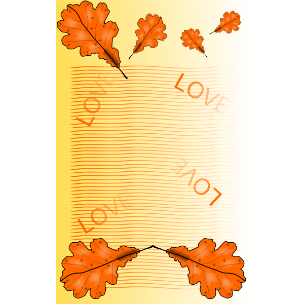 Fall themed notepad page vector image