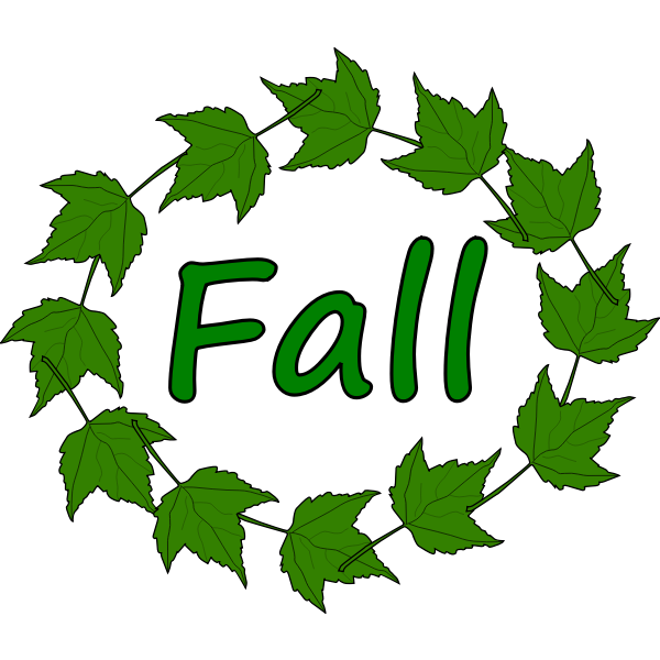 Fall green leaves vector image