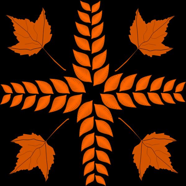 Autumn leaves arrangement vector image