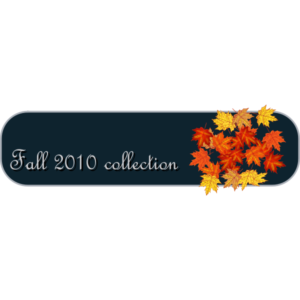 Vector illustration of fall banner