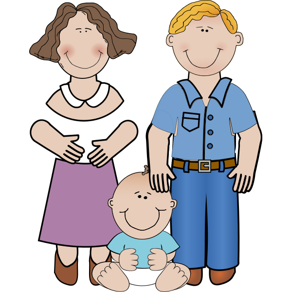 Vector image of family portrait