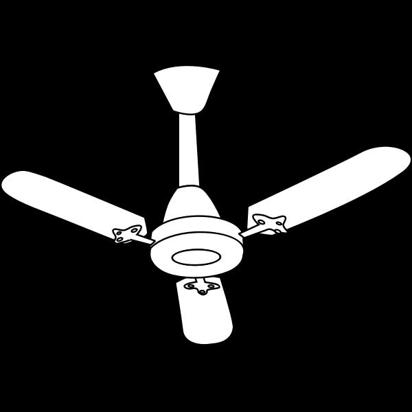 Ceiling fan line art vector graphics