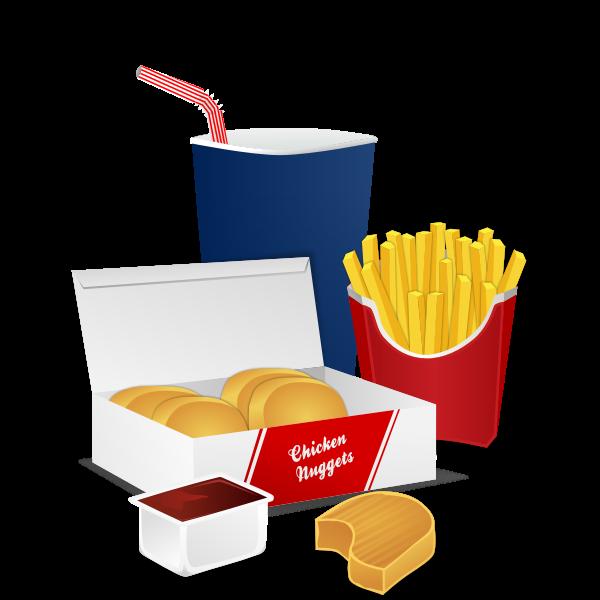 Fast food menu vector graphics