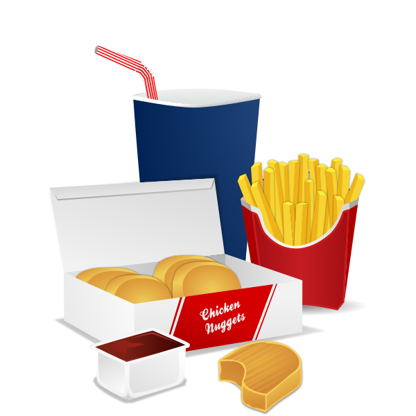 Fast food menu vector graphics