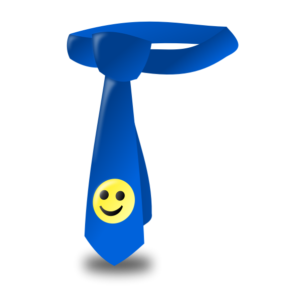 Tie with smiley