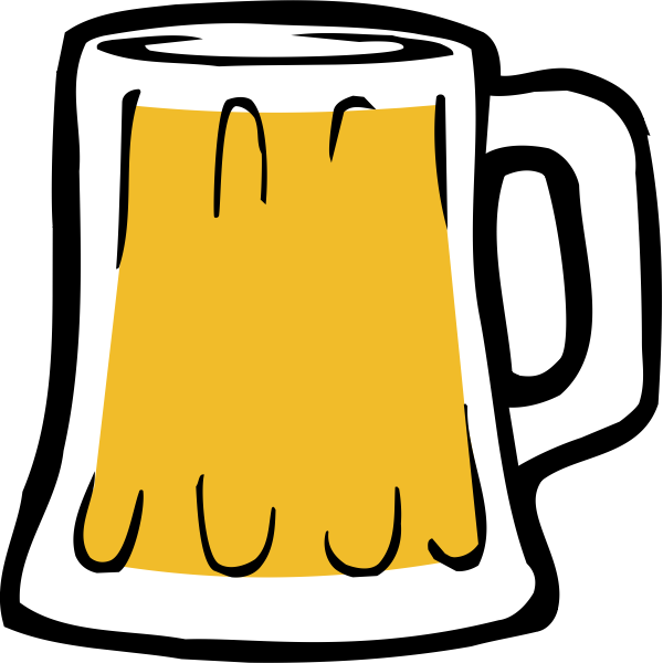 Vector illustration of beer mug full of beer