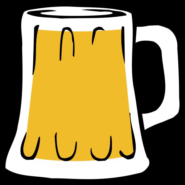 Vector illustration of beer mug full of beer