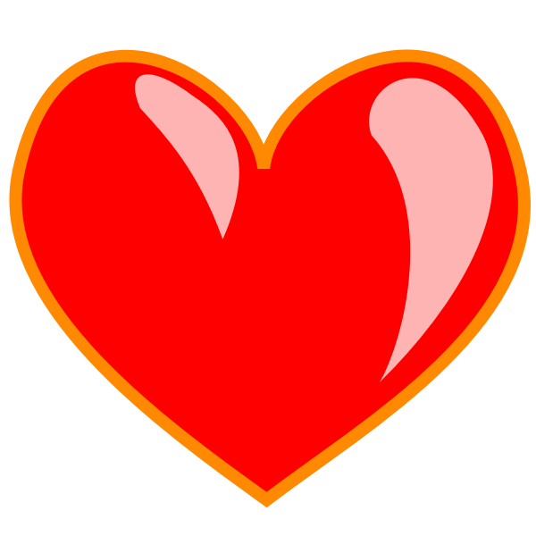 Red heart favorites link vector clip ar