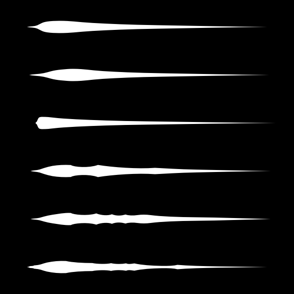 Drawing of paint brushes
