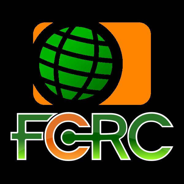 FCRC globe shiny icon vector image