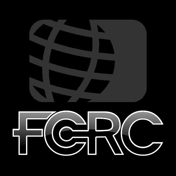 FCRC globe logo vector illustration in black and white