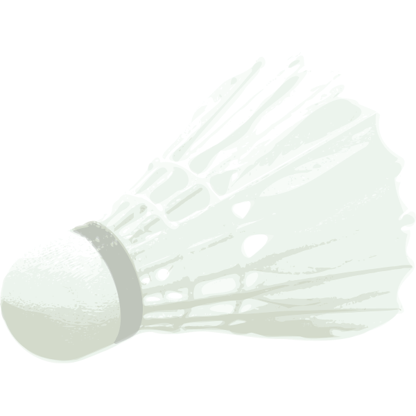 Vector graphics of badminton ball