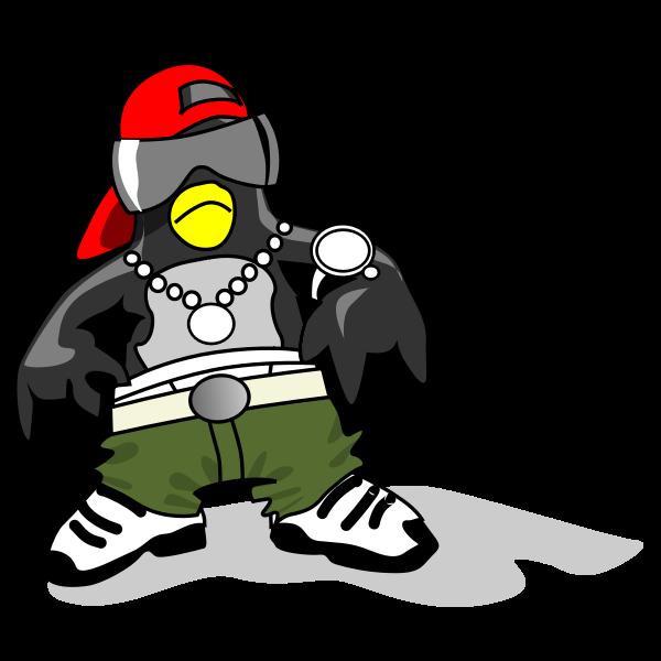 Dressed penguin vector image