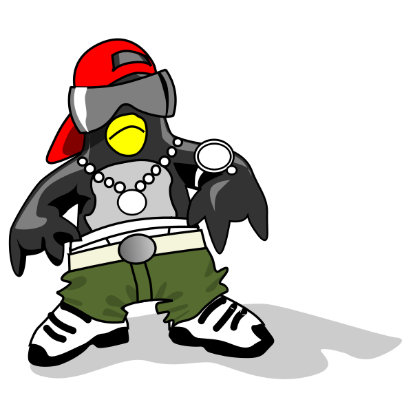 Dressed penguin vector image