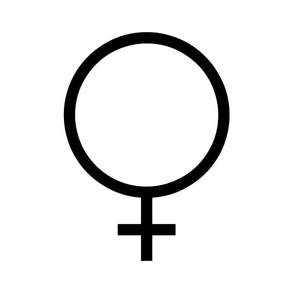 Female symbol drawing
