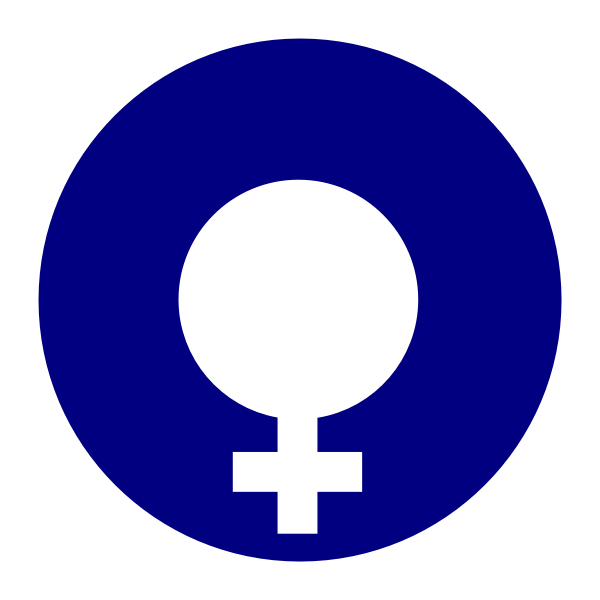 Vector graphics of thick blue circle gender symbol