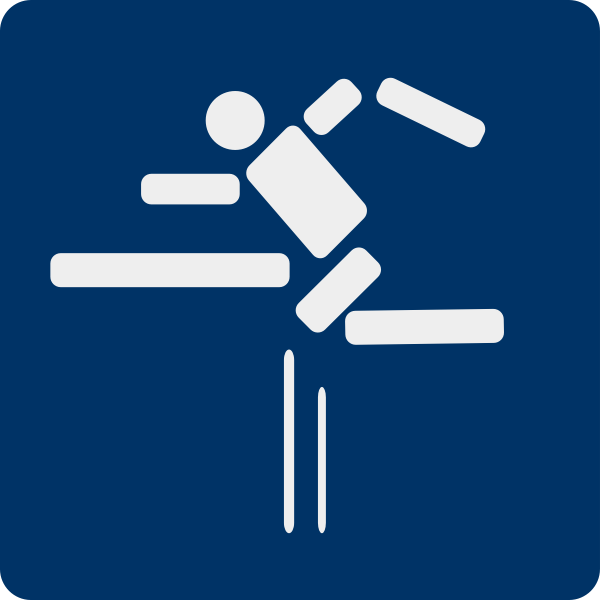 Fence jumping sport pictogram vector illustration