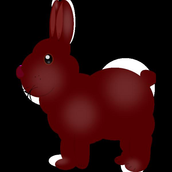 Chocolate bunny vector image