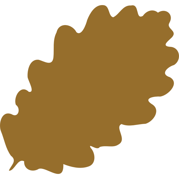 Drawing of brown leaf silhouette