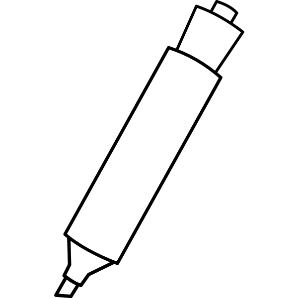 Vector drawing of marker