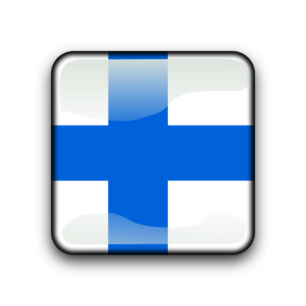 Country vector button Finland