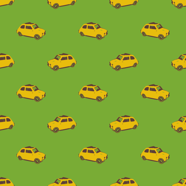 fiat yellow seamless pattern