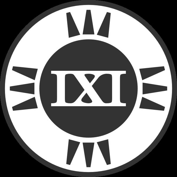fictional brand logo IXI variant b
