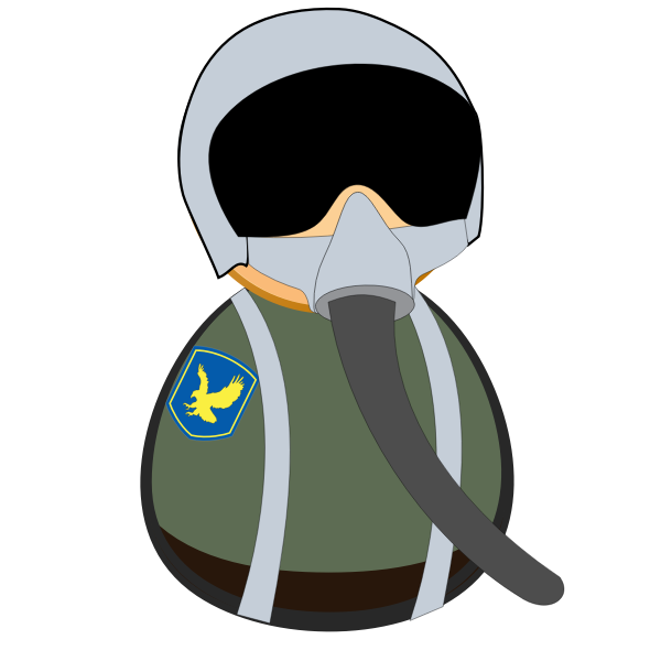 Fighter pilot icon