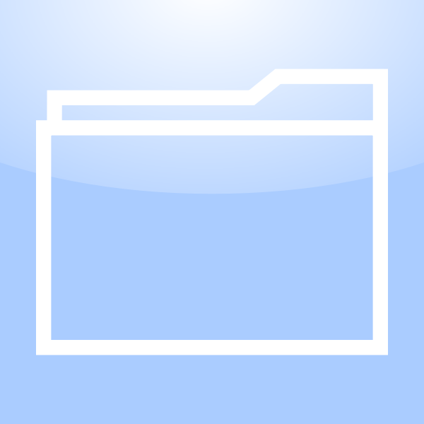 Mac folder icon vector drawing