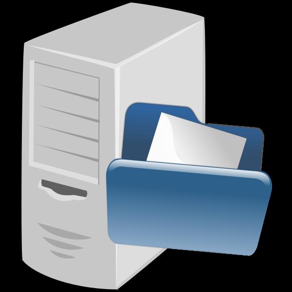 Vector illustration of file server icon