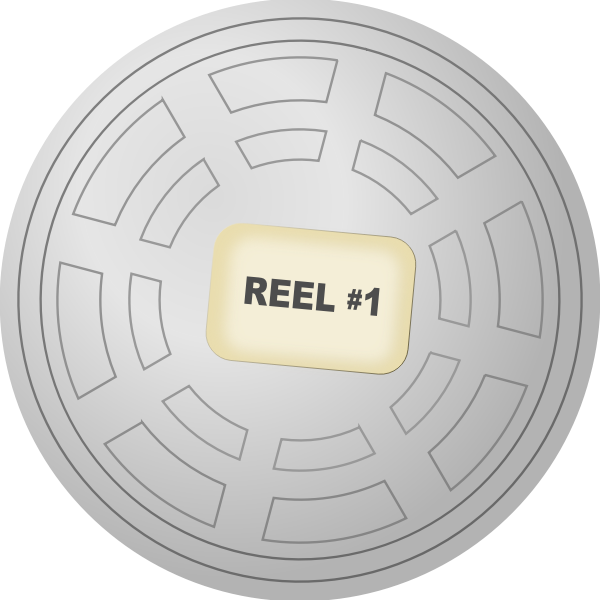 Vector image of film reel