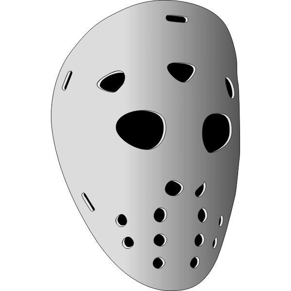Vector clip art of hockey mask