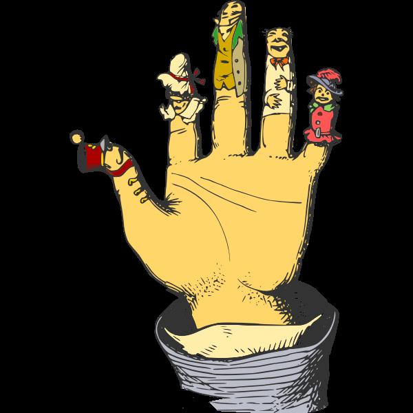 finger puppets colour