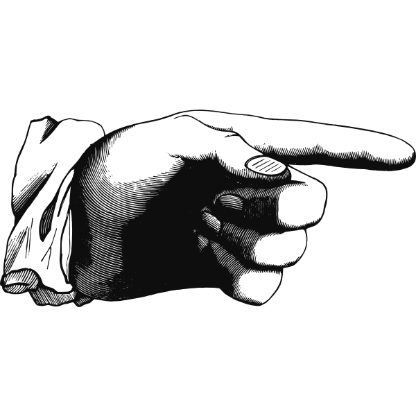 Index finger vector drawing