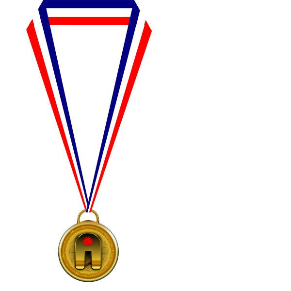 Gold medallion illustration
