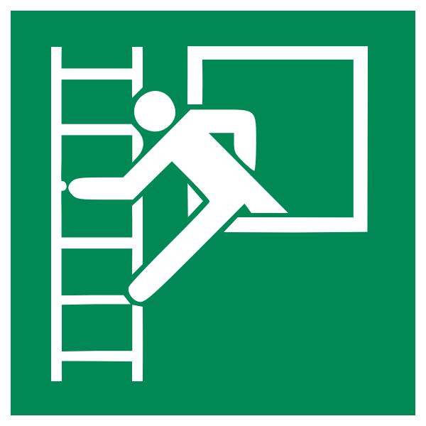 fire escape ISO 7010 E016