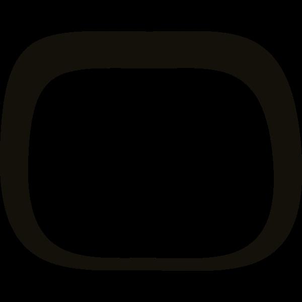 Vector clip art of firebog shaped frame