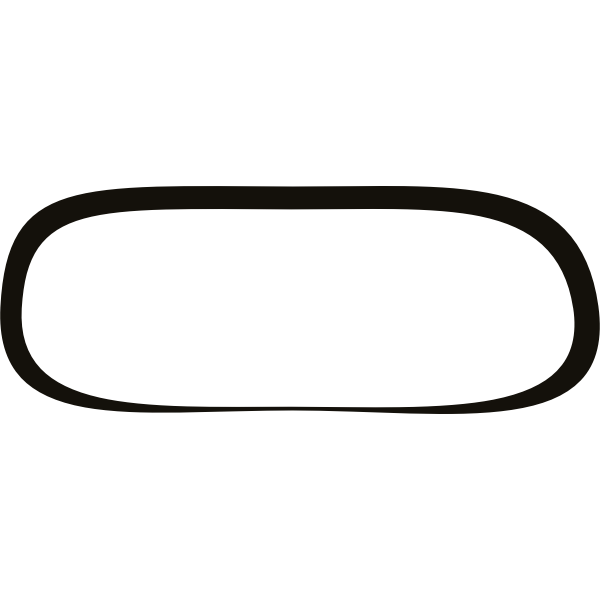 Vector image of firebog rectangular shaped frame