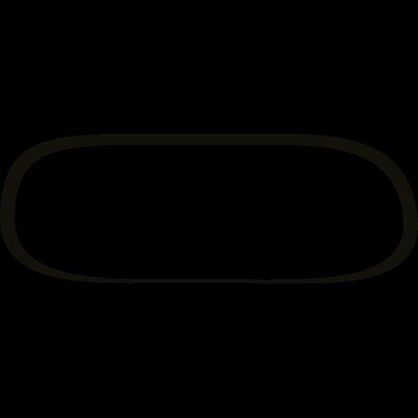 Vector illustration of extended thin frame