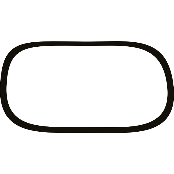 Vector drawing of uneven thickness border