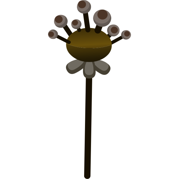 Vector drawing of decorative brown fake flower