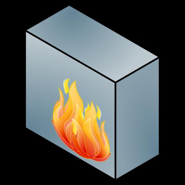 Network firewall vector illustration