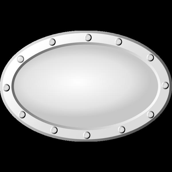 Metal window cover vector graphics