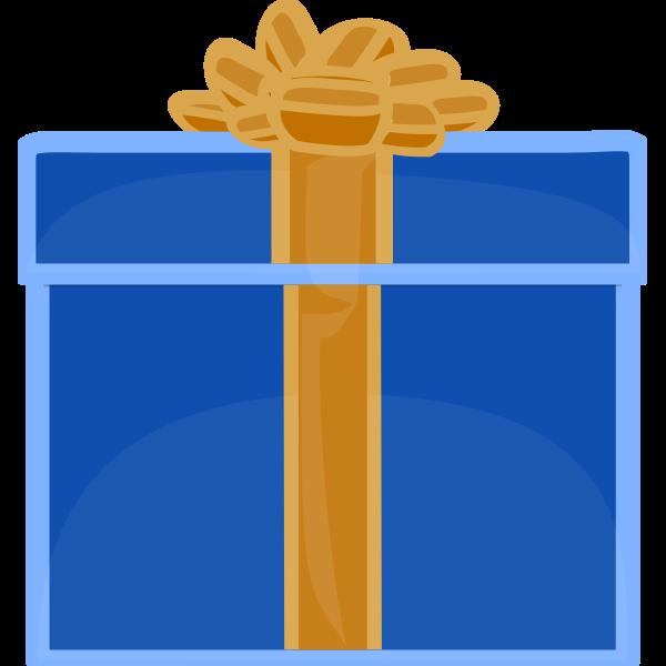 flat blue giftbox