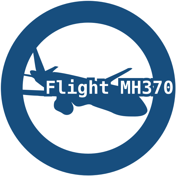 Vector clip art of graphic for the missing Malaysian Airlines flight