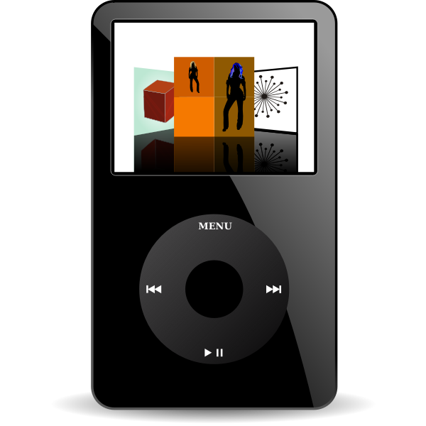 Vector image of iPod media player