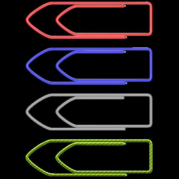 Vector clip art of paper clips